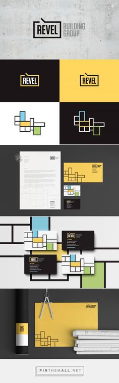 Revel Building Group Branding by Nick Edlin on Behance | Fivestar Branding – Design and Branding Agency & Inspiration Gallery