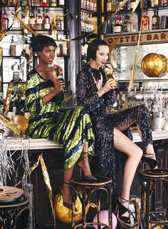 Herieth Paul, Alana Zimmer & Tess Hellfeuer for Allure December 2015: myfashion_diary