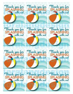 DIY Printable Pool Party Party Favor Tags by loralangdesigns, $4.00