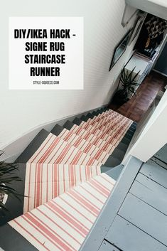 Best Carpet Runners For Stairs Stair Rug Runner, Staircase Runner, Stair Rugs, Stair Runners, Runner Rugs, Carpet Runner, Foyers, Ikea Rug, Staircase Makeover