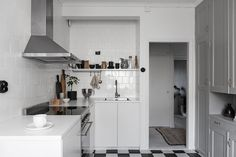 The monohcome home of Swedish interior stylist Elin Kickén