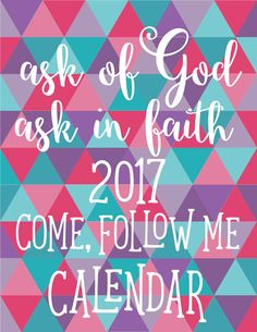 2017 Come Follow Me Calendar with Mutual Theme for Young Women