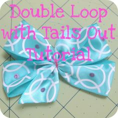the Jocole blog: Bow - Double Loop with Tails Out using template