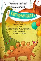 Dinosaurs birthday party - FREE PRINTABLE birthday invitation