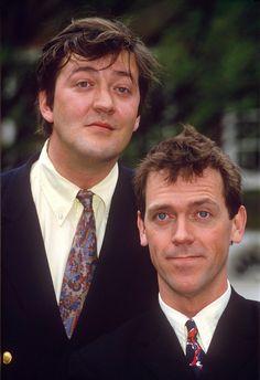Stephen Fry as Reginald Jeeves & Hugh Laurie as Bertie Wooster in ----Jeeves and Wooster (TV Series 1990–1993)   Very funny UK prod.