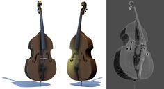 Double Bass model, 3DS MAX