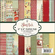 "Saint Nick Paper Pad 6""X6"" 36 Sheets"