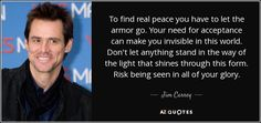 to find real peace you have to let the armor go - an amazing speech
