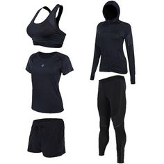 Women's Compression Sets Running Sets Shirts Jackets Bras Shorts Pants for Yoga Joggers Gym Fitness Tights Sets