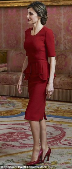 Letizia played the perfect host on Friday at her home at the palace at Zarzuela palace
