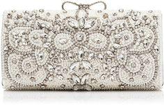 Happy Embellished Clutch Bag