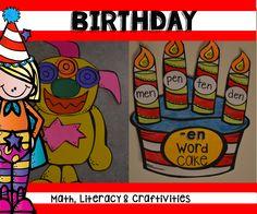 Birthday Inspired Activities for Kindergarten!