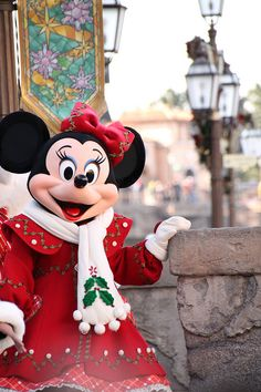 Minnie! Someday I will go there during the Christmas season...
