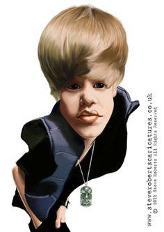Celebrity caricatures - Justin Bieber