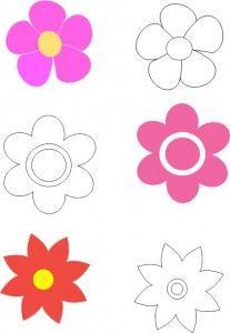 Moldes de flores de foami