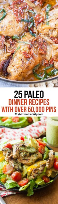 I can't believe all these Paleo dinner recipes have been pinned at least 50,000 times! I've got to try some of these. . .
