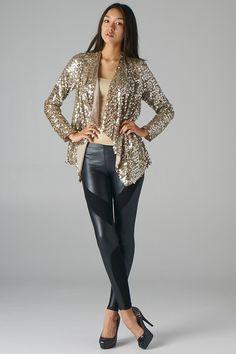 Lavishville - Sequins Open Blazer (Mocha), $60.00 (http://www.lavishville.com/sequins-open-blazer-mocha/)