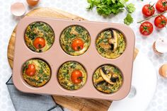 These Easy to Prep Ahead Breakfast Frittata Muffins Are the Bomb! | Clean Food Crush