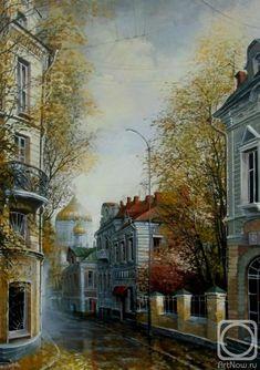 Стародубов Александр. Гагаринский переулок. Осень пришла