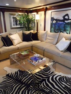 Ralph Lauren Home décor in Oceania Marina's Owner's Suite - Would you believe this is a cruise ship interior?