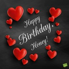 Birthday-message-for-husband-on-card-with-red-hearts happy birthday husband - Birthdays Happy Birthday Romantic, Happy Birthday Honey, Birthday Wishes For Lover, Birthday Message For Husband, Happy Birthday For Him, Happy Birthday Wishes Cards, Happy Birthday Images, Birthday Love, Happy Birthdays