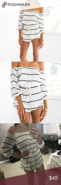 White Fox Boutique March Romper Stripe White Fox Boutique Romper. I'm perfect condition, new, with tags. (Simply didn't fit and shipping was over $125 to return it). GET 10% OFF 3+ ITEMS WHEN YOU BUNDLE! White Fox Boutique Pants Jumpsuits & Rompers