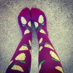 Hops knee high socks. Beer me!