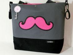 ♥  Kinderwagentasche  / Shopper  -  Schnurrbart ♥ von ☆ KymBoo ☆   auf DaWanda.com