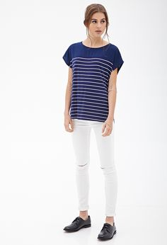 Boxy Striped Knit Top #SummerForever