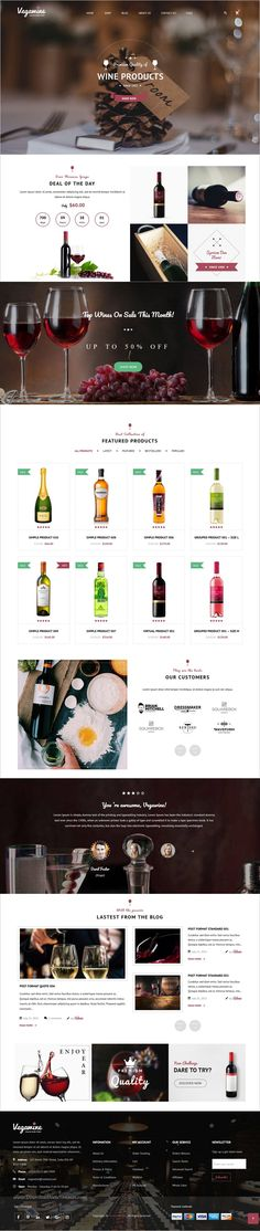 VG VegaWine is a wonderful 4in1 responsive #WordPress theme for online #store to sell #wine, food or grocery in stunning eCommerce websites download now➩ https://themeforest.net/item/vg-vegawine-wine-winery-and-vineyard-woocommerce-theme/19274698?ref=Datasata