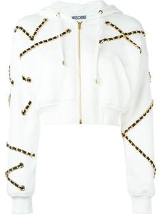 Moschino chain embellished hoodie