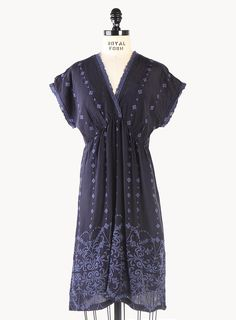 V-Neck Scallop Dress   Women's Dresses   Johnny Was Collection