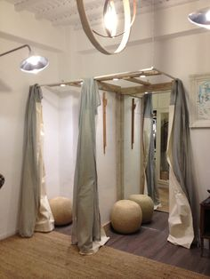 * Boutique shop in Mykonos, Greece | Sara Russell Interiors/dressing room mirrors