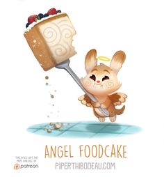 Daily+Paint+1559.+Angel+Foodcake+by+Cryptid-Creations.deviantart.com+on+@DeviantArt