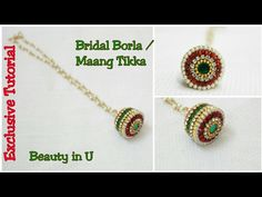 Bridal Borla | How to make Bridal Maang Tikka / Papita Billa at Home | Tutorial - YouTube