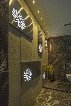 CNC WORK IN BATHROOM  DESIGN BY:- RAZA DECOR Main Door Design, Foyer Design, Ceiling Design, House Design, Wall Panel Design, Partition Design, Bathroom Layout, Bathroom Interior, Home Interior Design