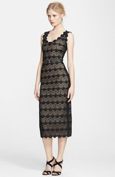 Korovilas 'Belle' Lace Pencil Dress available at #Nordstrom