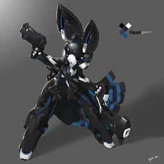 SYNC: Azure the Robot Rabbit by =TysonTan on deviantART