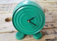 Relógio com lata de atum - * Decoração e Invenção *