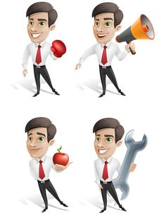 Free businessman vector character set containing 4 different poses. We have made clean and clear character set that would really add welcome look to your projects. Just place our character to any of your designs and you'll see the difference. Check it yourself! Continue reading →