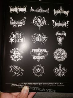 Lord of the Logos - Designing the Metal underground by Christophe Szpajdel Death Metal, Calligraphy Tattoo Fonts, Metal Font, Extreme Metal, Glam Metal, Typography, Lettering, Blog Sites, Logo Design