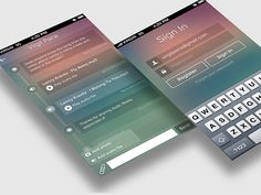 iphone chat app by Virgil Pana