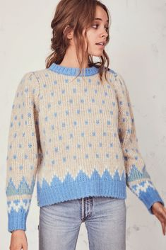 Rosie Sweater by LoveShackFancy Cool Sweaters, Sweaters For Women, Cute Fashion, Fashion Outfits, Fashion Collage, Sweater Shop, Sweater Fashion, Sweater Weather, Spring Summer Fashion