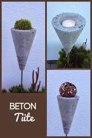 Living breeze: concrete bag, concrete decoration, concrete roof for the garden - Beton - garten dekore Concrete Bags, Concrete Crafts, Concrete Projects, Concrete Garden, Cement Art, Concrete Planters, Diy Projects To Try, Garden Projects, Diy Garden