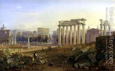 Across the Forum, Rome, 1828 Painting by Hugh William Williams Reproduction Rome Painting, Most Famous Paintings, Oil Painting Reproductions, Art Gallery, Style, Swag, Art Museum, Fine Art Gallery, Stylus