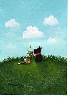 Scottie Dog THE ARTIST PRINT Todd Young painting by ToddYoungArt, $12.50