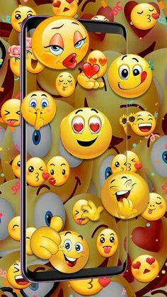 3d Wallpaper For Mobile, Cute Wallpaper For Phone, Emoji Wallpaper, Cellphone Wallpaper, Funny Minion Pictures, Emoji Pictures, Cute Cartoon Wallpapers, Pretty Wallpapers, Holographic Wallpapers