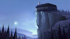 Gravity Falls S1E4 background art