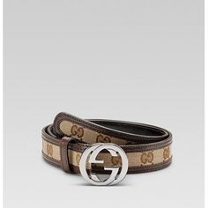13b5f07c6 Gucci Belt withterlocking G Buckle Beige-Ebony 114874 Sale Gucci Handbags  Outlet, Gucci Purses