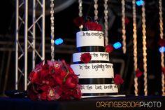 wedding cake Rock n Roll, red and black, Las Vegas Wedding, Scheme Events wedding planner